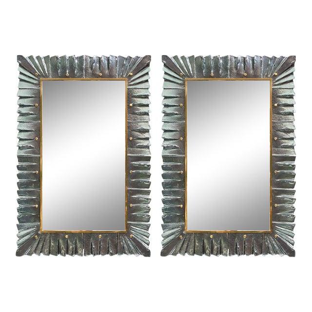 Murano Glass Aqua Mirrors For Sale