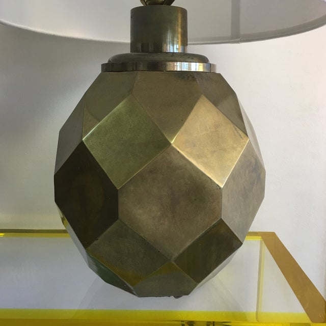 1977 Faceted Chapman Brass Lamps - a Pair - Image 3 of 8