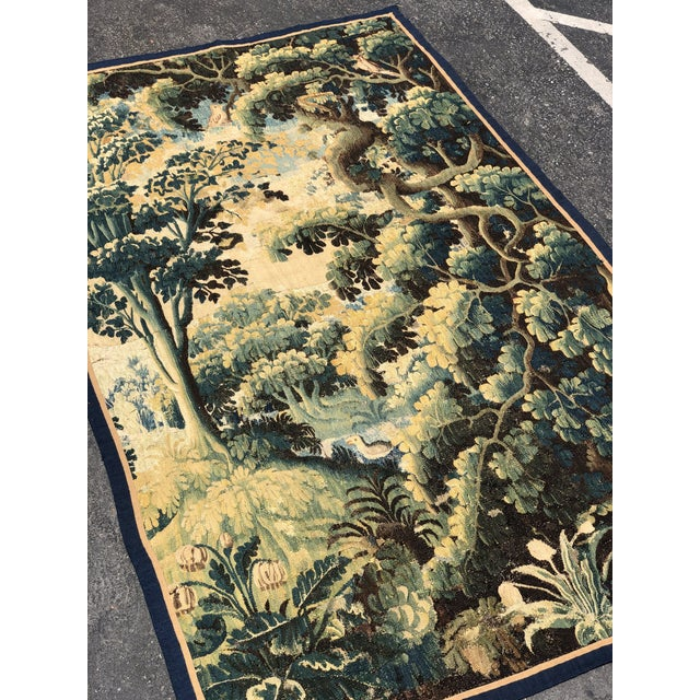 Antique 17th C Flemish Landscape Tapestry For Sale In Los Angeles - Image 6 of 9