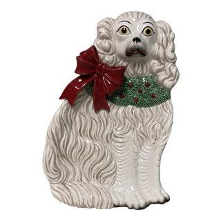Fitz & Floyd Staffordshire Spaniel Holiday Decor Tray For Sale