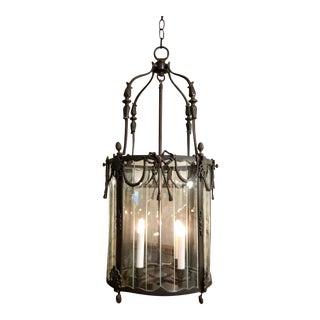 Spanish Colonial Bronze Designer Lantern Chandelier For Sale