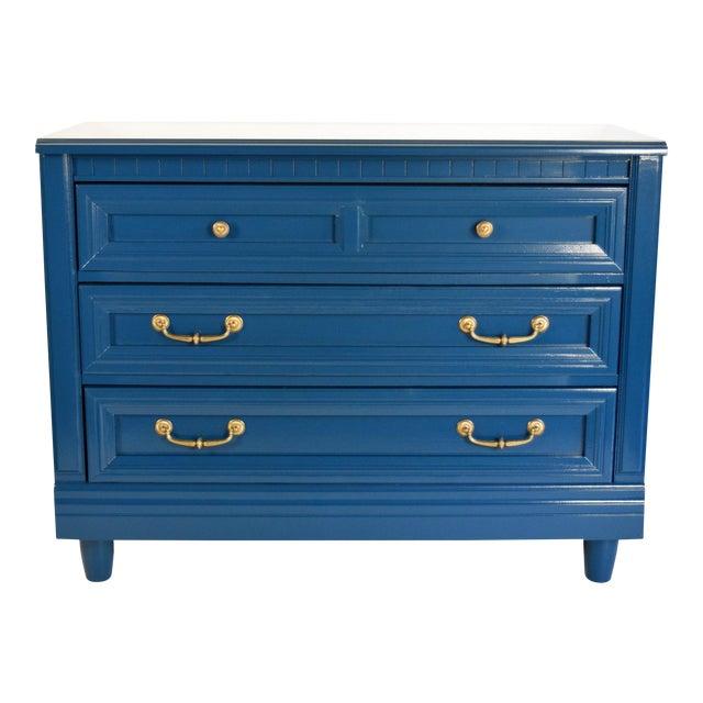 Vintage Blue Glossy Dresser For Sale