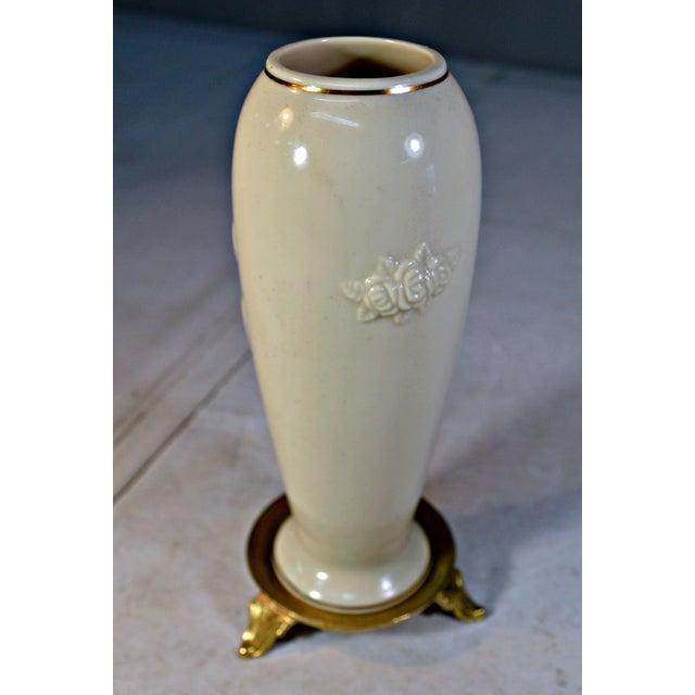 Vintage Lenox Porcelain Rosebud Vase For Sale - Image 5 of 8