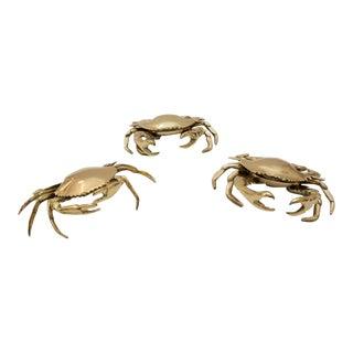 Vintage Sarried Ltd Brass Crab Votive or Incense Holders - Set of 3 For Sale