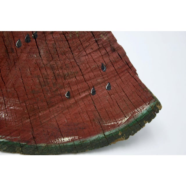 A beautiful piece of folk art, this whimsical wood watermelon sculpture is beautifully executed while retaining the...