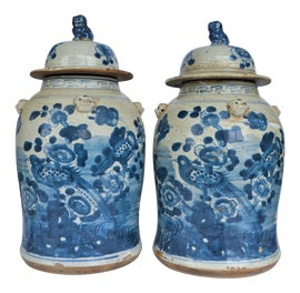 Image of Newly Made Porcelain Ginger Jars