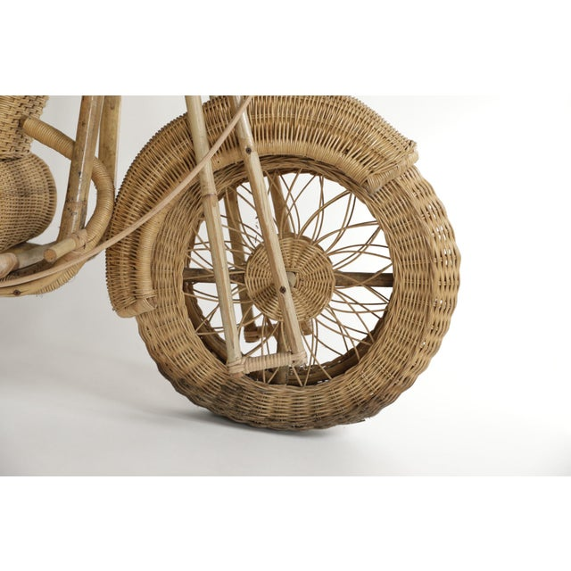 Tom Dixon Rattan Motorcycle Sculpture For Sale - Image 9 of 13