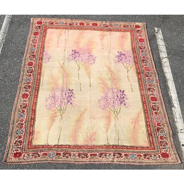 Turkish Vintage Design Decorative Turkish Rug- 7′2″ × 10′ For Sale - Image 3 of 13