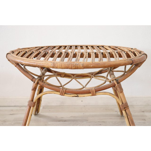 Bamboo 20th Century Italian Bamboo and Rattan Living Room Set of 4 Pieces, 1960s For Sale - Image 7 of 13