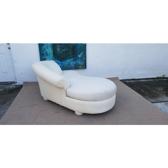 This is a mid-century Vladimir Kagan chaise. The piece is sculptural and was designed for Preview .