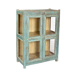 Vintage Painted Display Cabinet