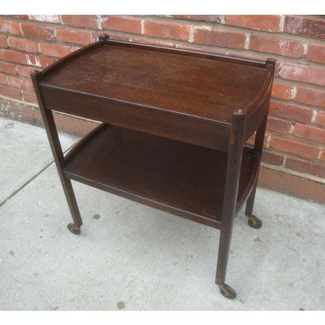 Vintage Streamline Moderne Tea Cart or Bar Cart Art Deco For Sale - Image 4 of 12