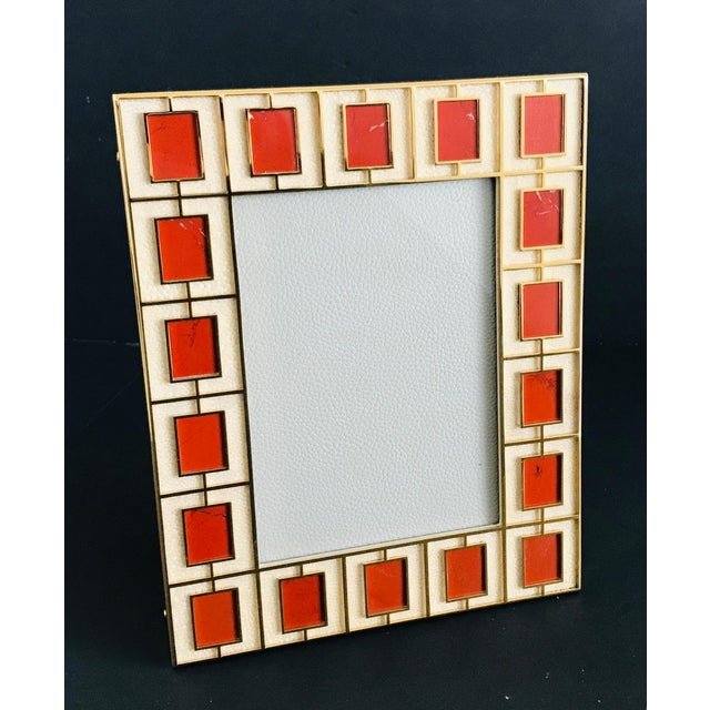 Art Deco Shagreen With Red Jasper Photo Frame by Fabio Ltd For Sale - Image 3 of 7