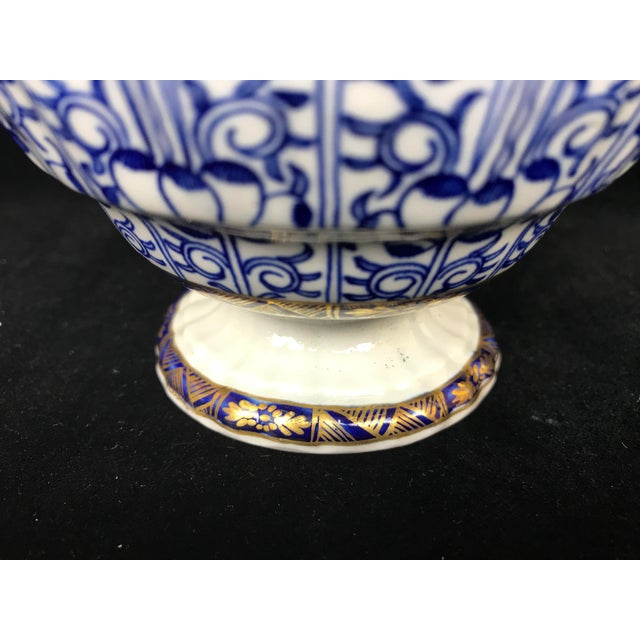 Ceramic 19th Century Victorian Blue & White China Lidded Serving Dishes - a Pair For Sale - Image 7 of 11