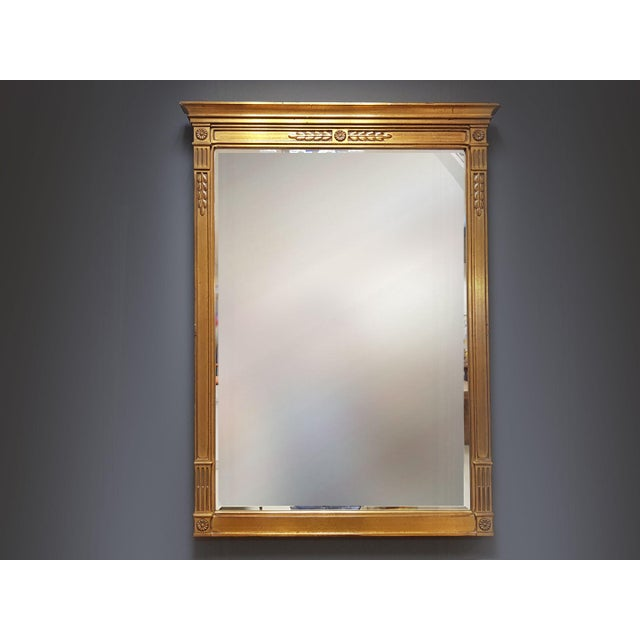 Vintage Rectangular Neoclassical Gilded Wall Mirror For Sale - Image 13 of 13