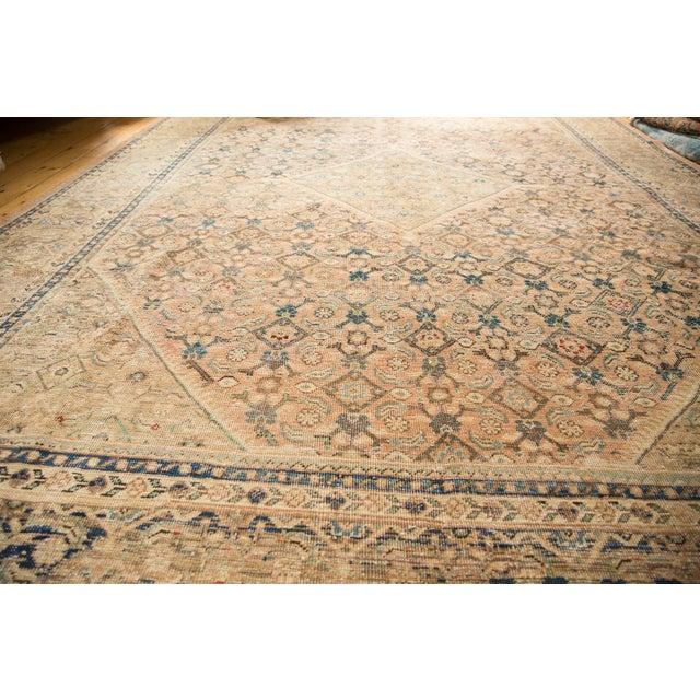"Vintage Distressed Mahal Carpet - 9'9"" X 12'8"" For Sale - Image 10 of 13"