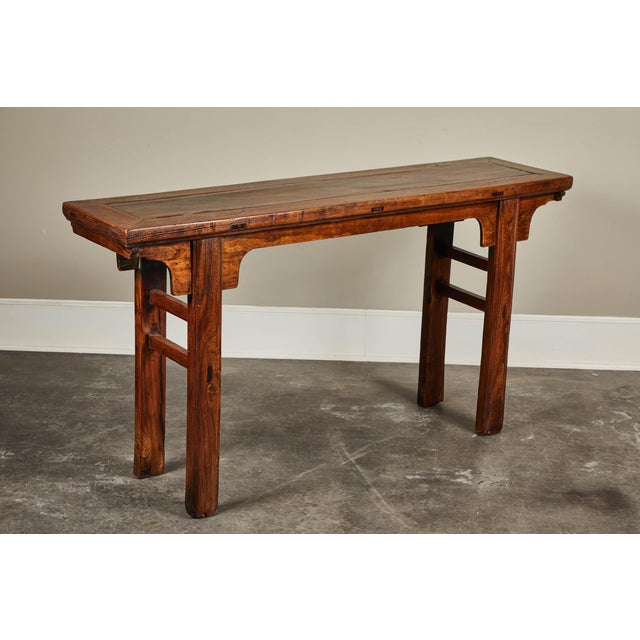 Asian 19th C. Chinese Ming Style Altar Table For Sale - Image 3 of 10