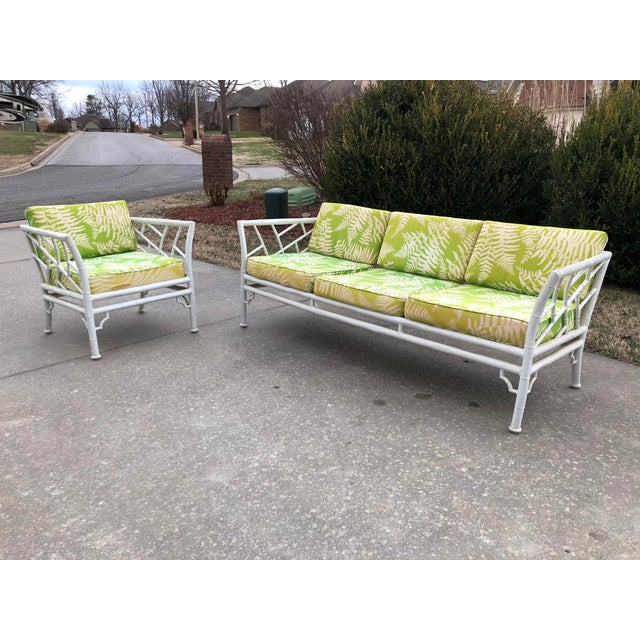 Vintage Meadowcraft Faux Bamboo Outdoor Patio Set Chairish