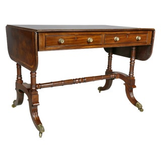 Regency Mahogany Sofa Table For Sale