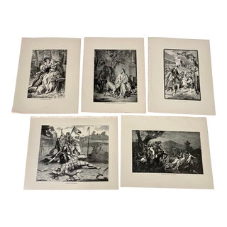 1892 Antique Characters From German Poetry Prints - Set of 5 For Sale
