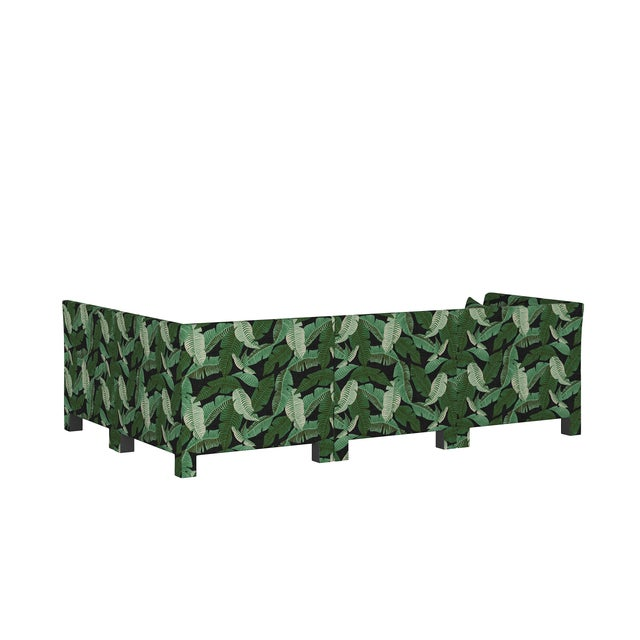 Banana Palm Black 4 Piece Sectional For Sale - Image 4 of 9