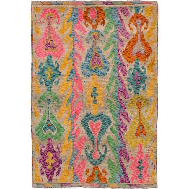 "Apadana - Modern Afghan Gabbeh Rug, 3'5"" x 4'10"" For Sale In New York - Image 6 of 6"