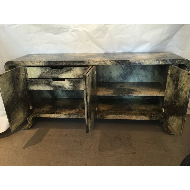 1970's Lacquered Baker Credenza - Image 4 of 11