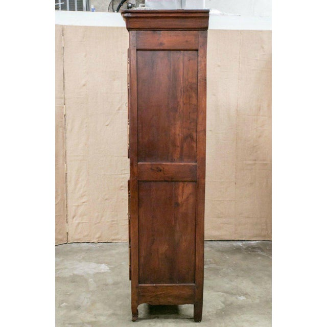 Louis XV Period Rennaise Cherrywood Armoire For Sale - Image 4 of 10