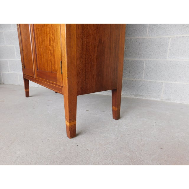 "Hepplewhite Biggs Federal Hepplewhite Style 1Pc Mahogany Banded Cabinet 90""h X 40""w For Sale - Image 3 of 13"