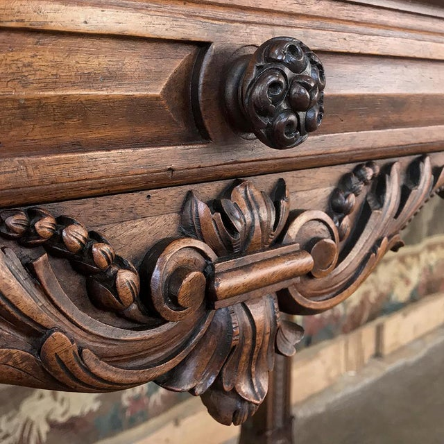19th Century French Louis XIV Walnut Console For Sale - Image 11 of 13
