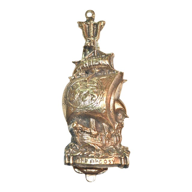 Argosy Ship and Ring Buoy Door Knocker For Sale
