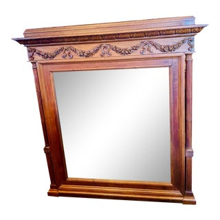 19th Century French Renaissance Revival Hand Carved Wall Mirror For Sale