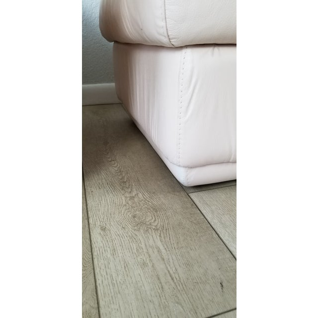80s Italian Postmodern Style Leather Ottomans. - a Pair For Sale - Image 10 of 13