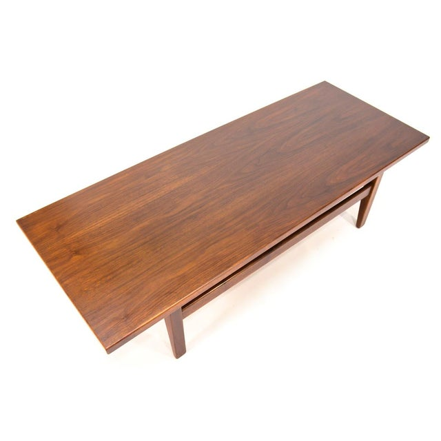 Mid-Century Modern Mid-Century Modern Jens Risom Walnut Coffee Table For Sale - Image 3 of 5