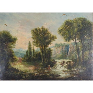 Dutch School Landscape After Hobbema Painting For Sale