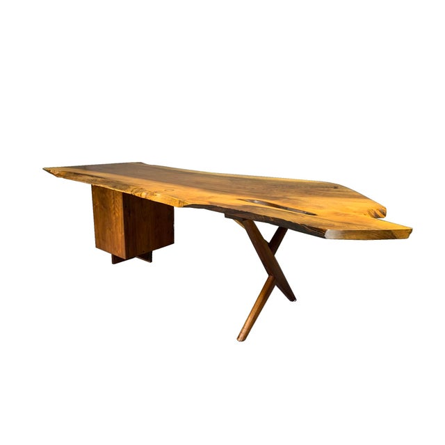 LARGE WRITING DESK Circa late 1950s / early 1960s, made by George Nakashima (1905-1990), New Hope, Pennsylvania. American...