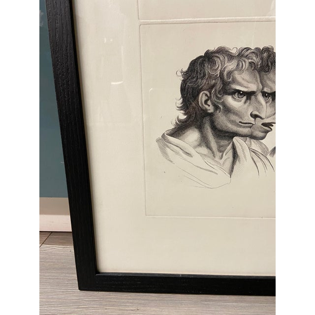 Black Man as Eagle - Physiognomic Heads Series Framed Illustration by Charles Le Brun For Sale - Image 8 of 12