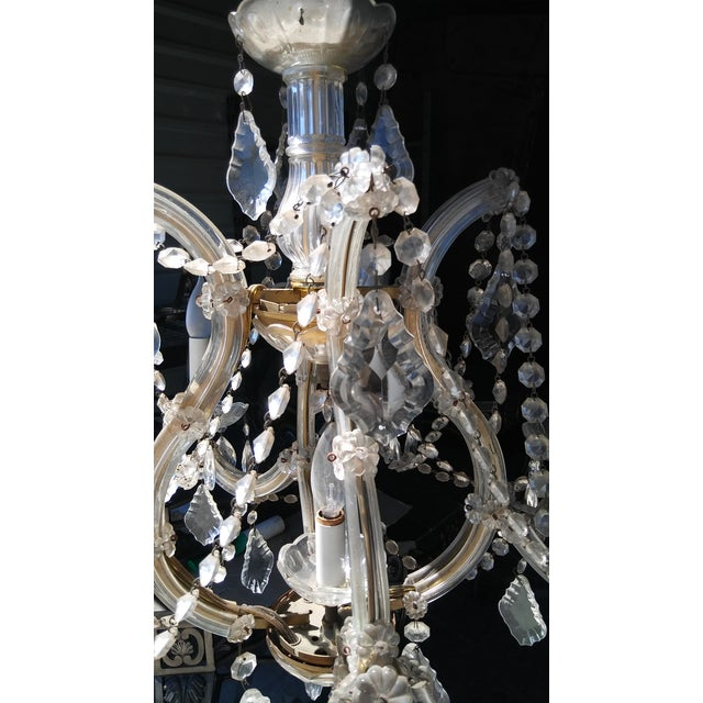 Vintage French Crystal 8 Light Chandelier - Image 5 of 7