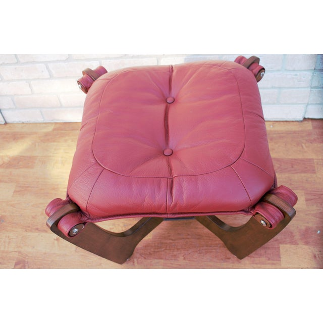 Mid Century Modern Odd Knutsen Luna Lounge Chair and Ottoman For Sale - Image 12 of 13