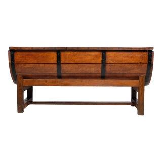 Pietrain Pig Trough Converted Barrel Table For Sale