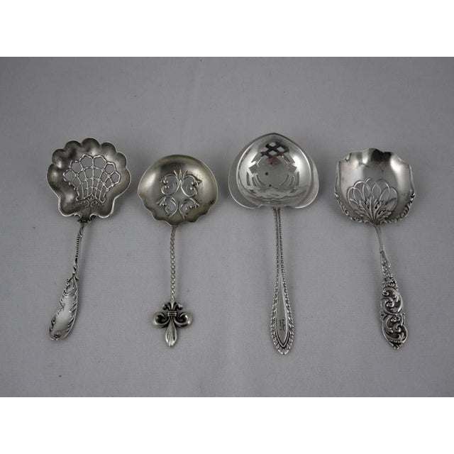 Victorian Sterling Silver Pierced Bon-Bon Servers - Set of 4 - Image 2 of 10