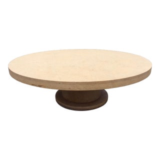 Outdoor Limestone Coffee Table For Sale