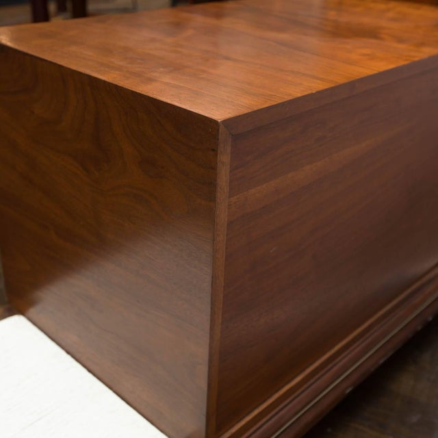 Wood Renzo Rutili Midcentury Cabinet Bench for Johnson Furniture For Sale - Image 7 of 10