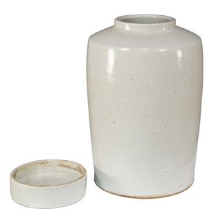 Sarreid Ltd the Stack Ceramic Urn W/Lid For Sale