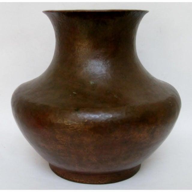 Vintage Hammered Copper Vase For Sale - Image 5 of 6