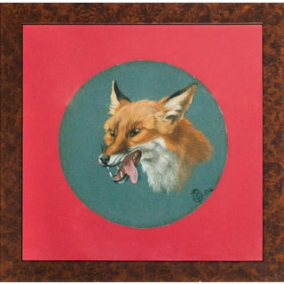 """Fox Head"" Framed Portrait For Sale"