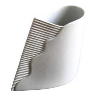 1980s Postmodern Uta Feyl for Rosenthal Germany Minimalist Porcelain Vase For Sale