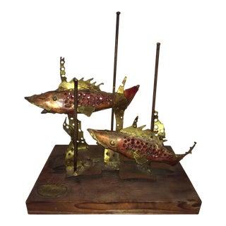 Brutalist Sculpture of Fish For Sale