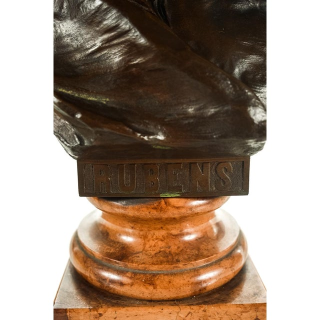 Rubens Bronze Bust Sculpture by H. Muller For Sale - Image 4 of 9