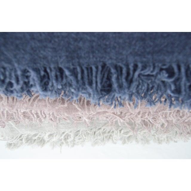 FirmaMenta Italian Ice Gray Gauze Throw For Sale - Image 4 of 11